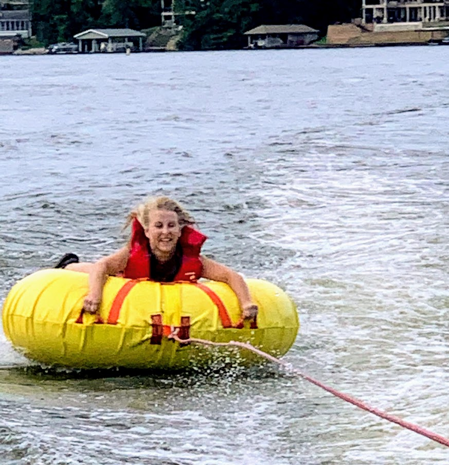 Have some fun tubing during your perfect day at the lake.