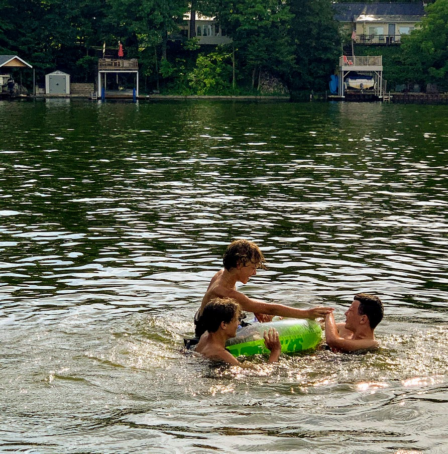 Have fun floating in the water while you enjoy your day at the lake.
