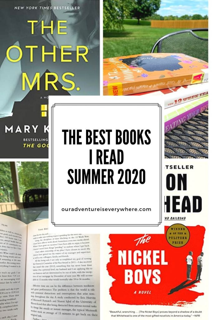Are you looking for something new to read? Check out the BEST books I read this summer. Thrillers, business, heart-wrenching and positive - this list contains them all! Click over to my website Our Adventure is Everywhere to see why you should add them to your TBR list!