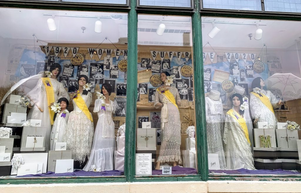 Window display at the Miami County Museum in Peru, Indiana