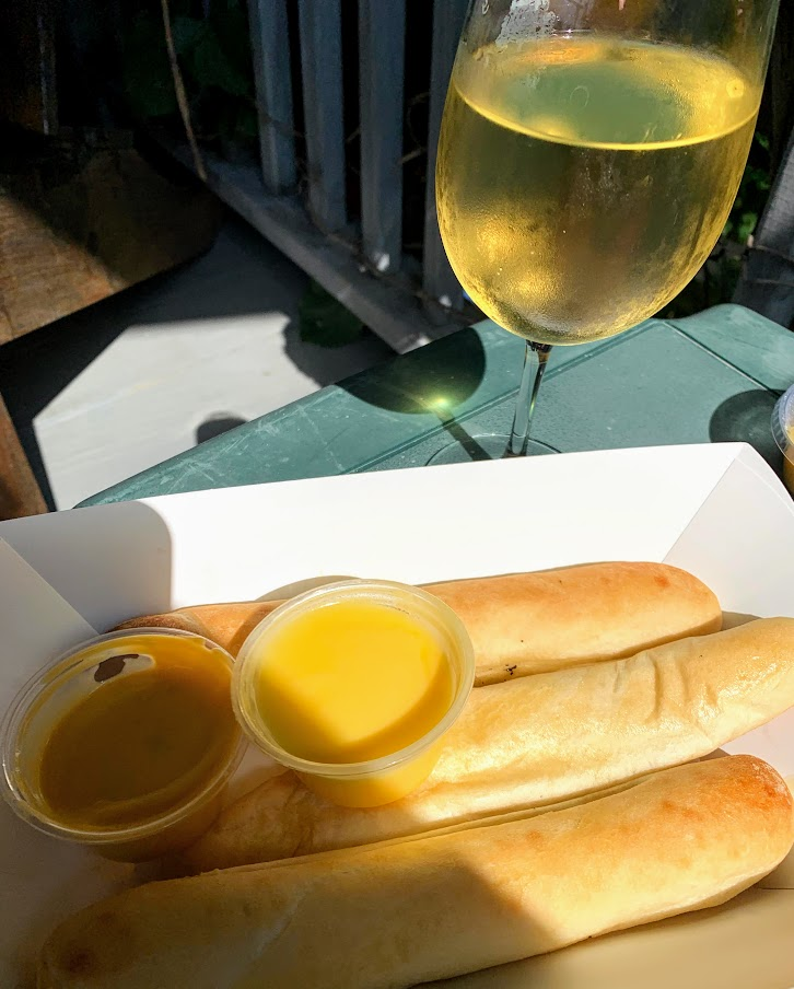 Wine and breadsticks - yum! Converse, Indiana