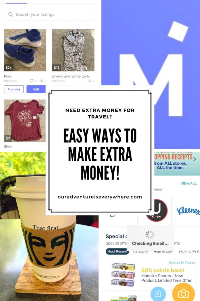 Ready to make some extra money? Here are two VERY simple ways to start that vacation fund! #makemoneyonline #sidehustle #vacationfunds