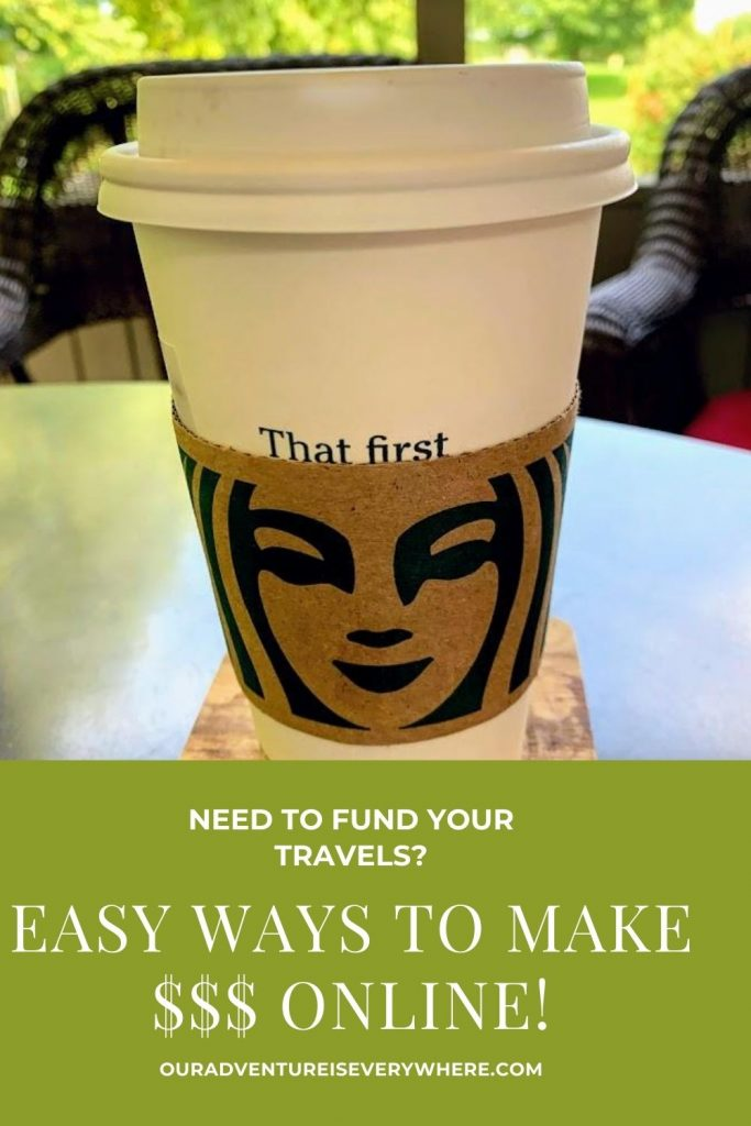 Love to travel but need to find new ways to fund it? Ready to make some extra money? Here are two VERY simple methods to start that vacation fund! #makemoneyonline #sidehustle #vacationfunds