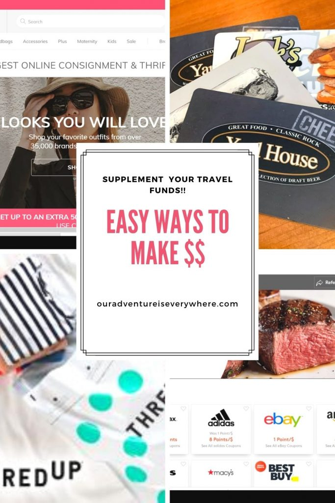 Ready to learn a few more ways to add extra funds to your travel budget? If you love to travel but money sometimes gets in the way, check out these two EASY ways to make more money! #travelfunds #makemoneyonline #sidehustles