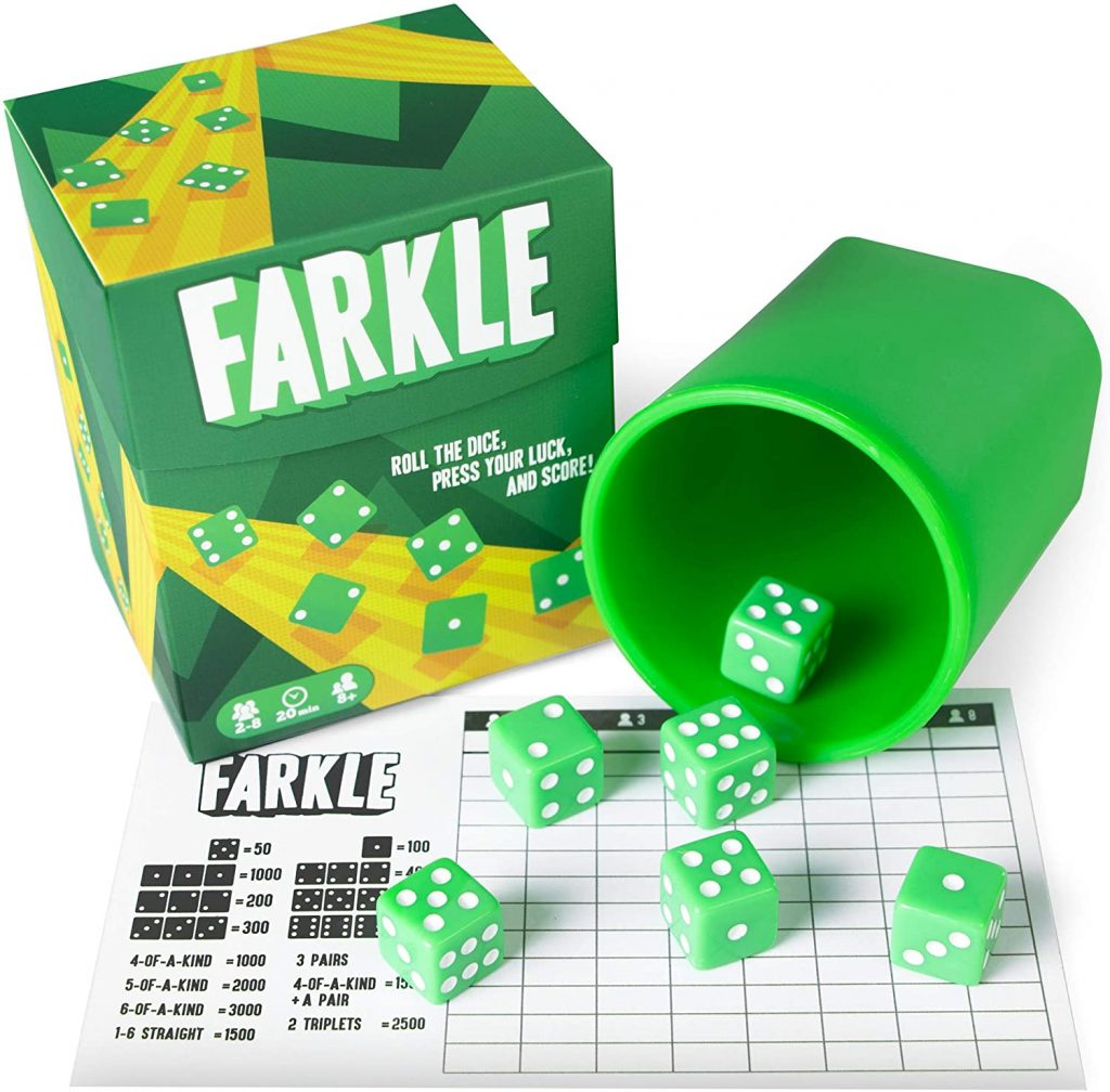 Farkle is the BEST family dice game.