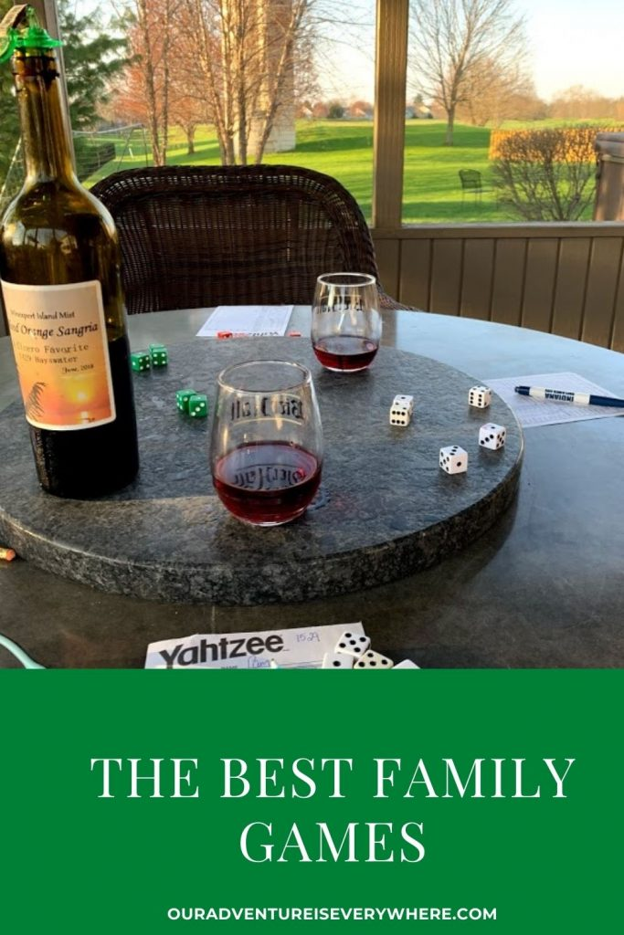 Do you love to play family games? We do, and here is a list of all of our favorites. From dice games, to cards to board games I've got everything you need to love game night! #gamenight #familygames