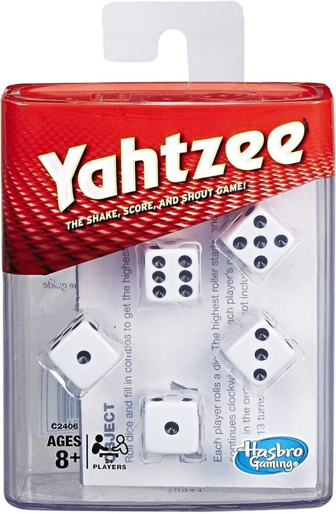 Yahtzee is a classic family dice game.