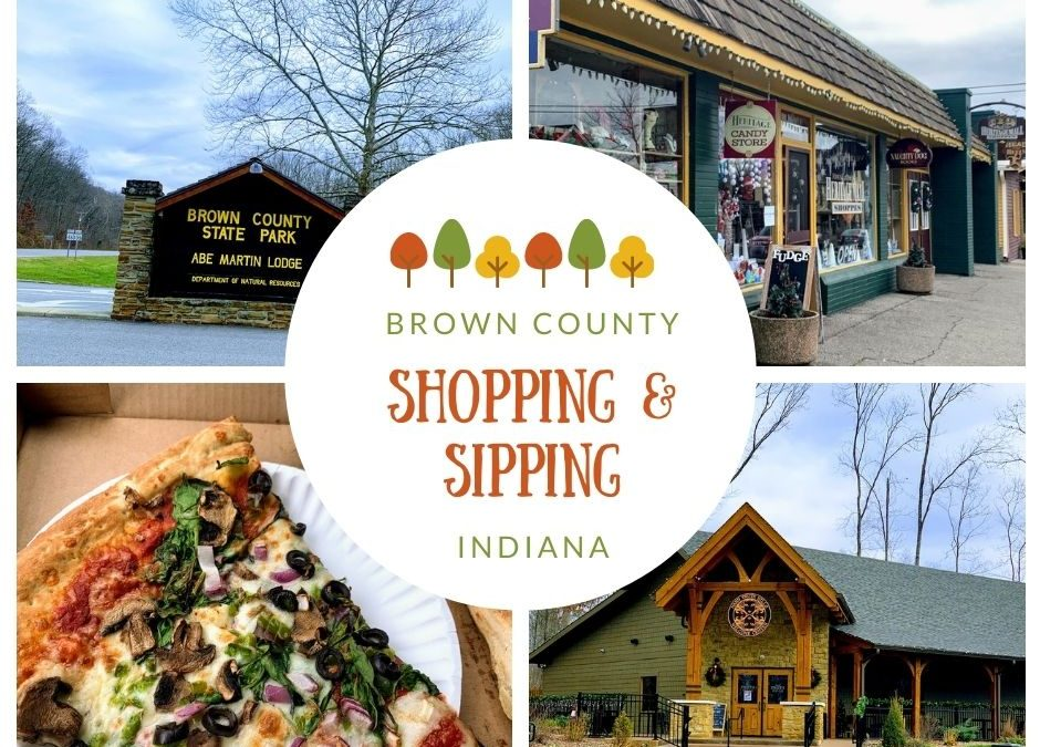 shopping and sipping in Brown County, Indiana