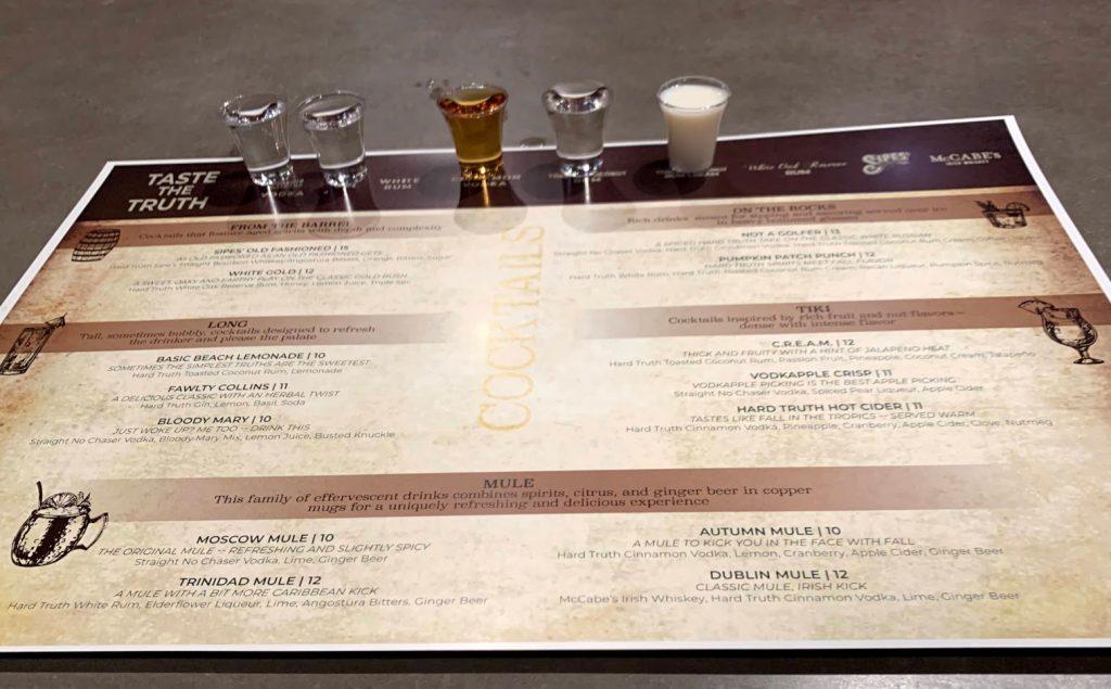 Enjoy a tasting at Hard Truth Distillery