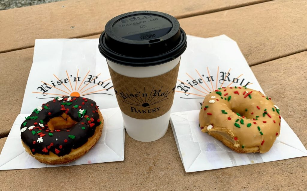 Donuts along with a walk in the park is the perfect date idea!
