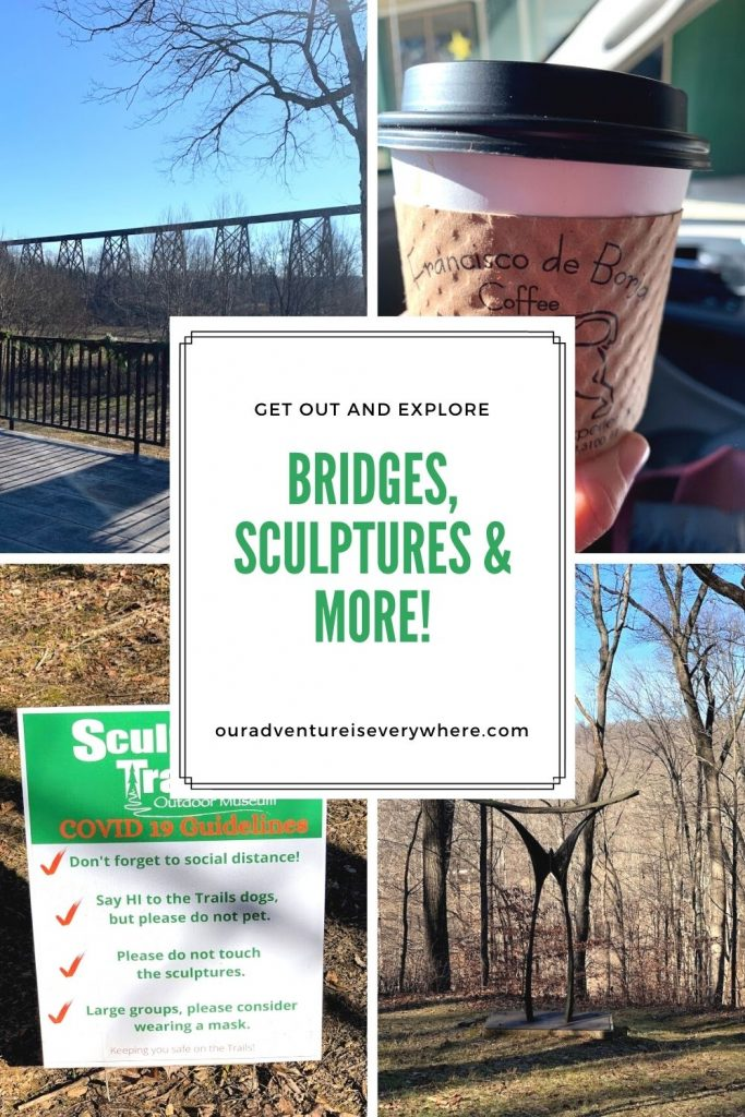 Love hiking? Love art? Why not combine them both in a fantastic day trip to Greene County, Indiana. In addition to a sculpture trail, you'll find an amazing trestle bridge, cute little towns and delicious coffee!