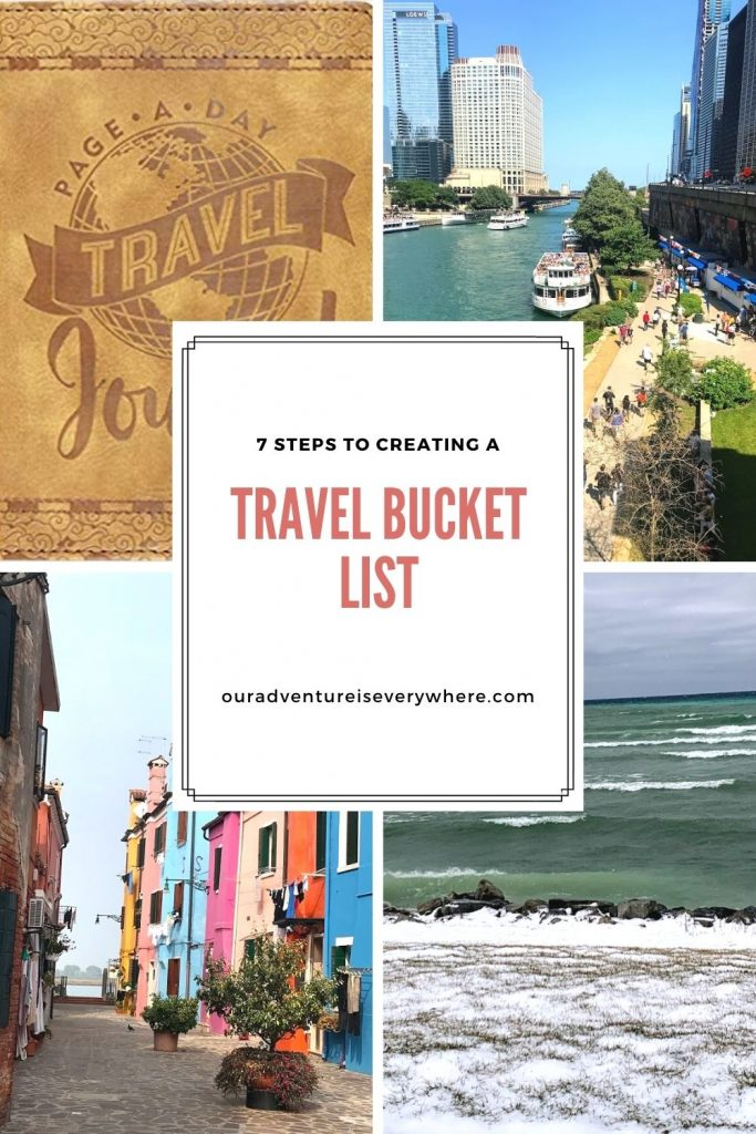 Are you dreaming of travel? Why not spend a little of that time creating a travel bucket list? This list will help you plan amazing trips for years to come! Learn the proven 7-step process! #travel #travelbucketlist #travelplanning