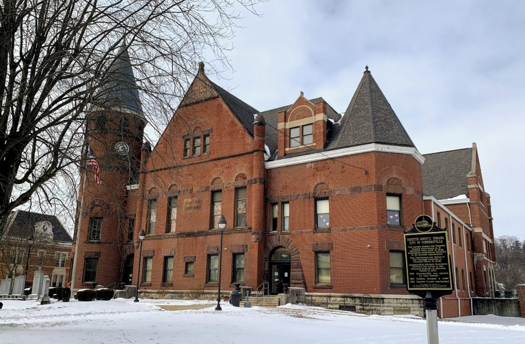 Lovely courthouse in Connersville, Indiana