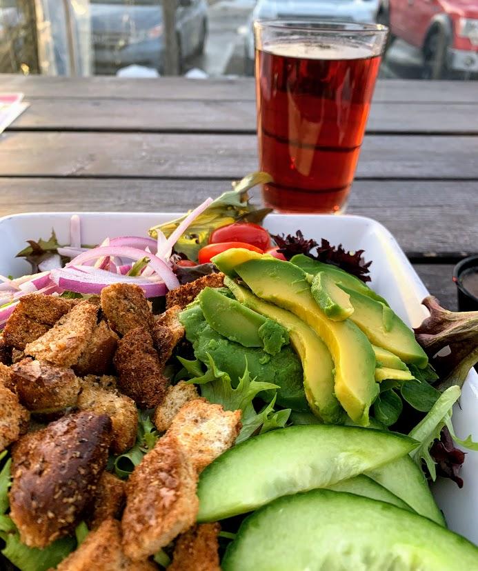 Amazing salad from Lake Street Pub in Boyne City, MI