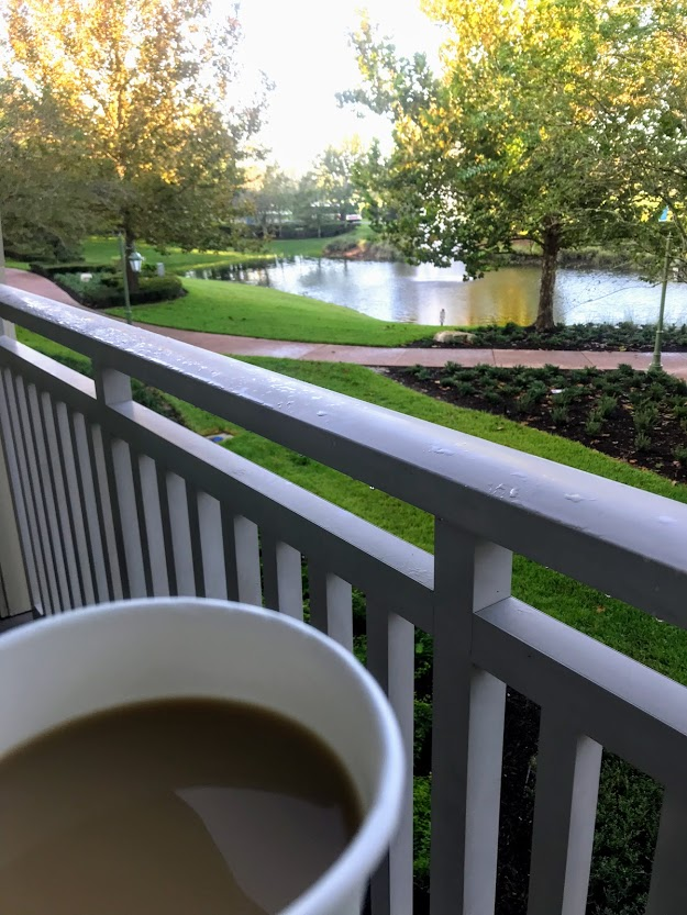 Save money on dining by enjoying your coffee in the room - with a view!