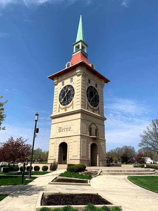 Clock Tower in Berne, Indiana