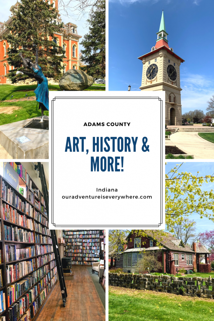 If you love art, books and history, Adams County has you covered. With an outdoor sculpture tour, Swiss heritage and even Limberlost (Gene Stratton-Porter's cabin), you are all set for a perfect Midwestern day trip! #daytrips #indiana #localtravel