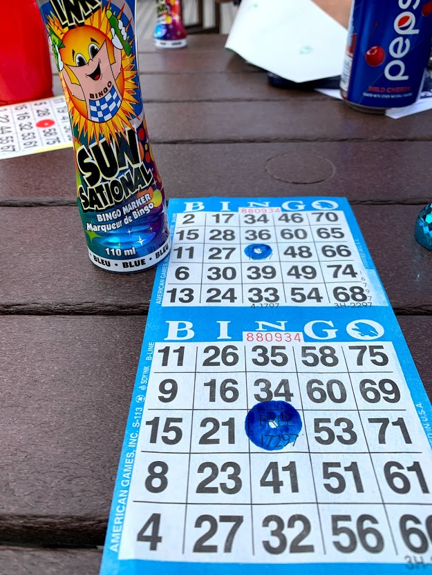 Playing bingo at the Mountain Loft Resort in Gatlinburg