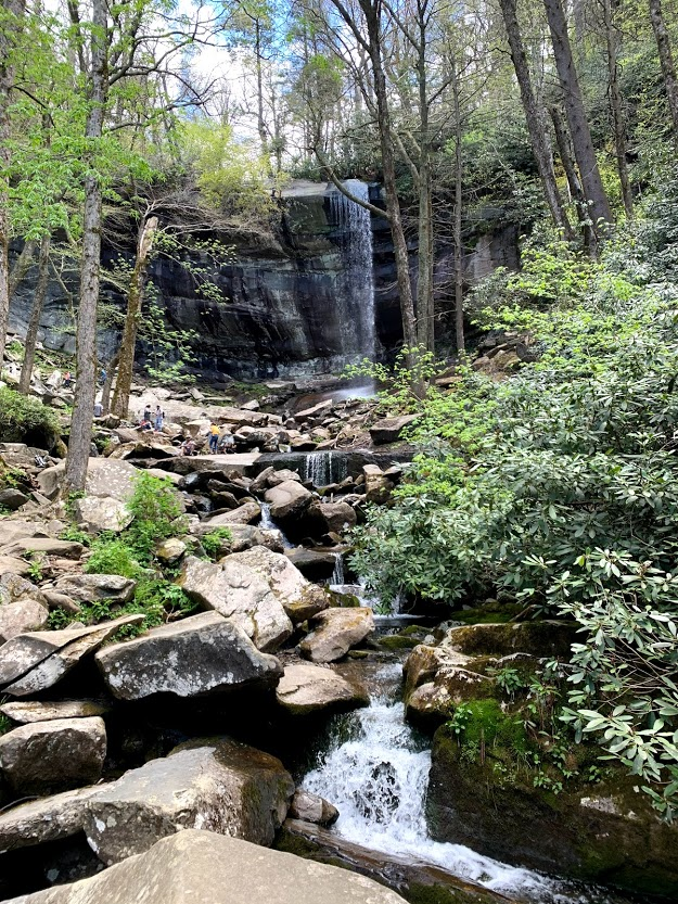 Rainbow Falls at the Great Smoky Mountains National Park