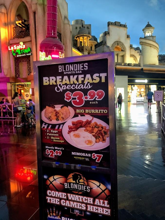 Enjoy breakfast in Las Vegas for well under $20