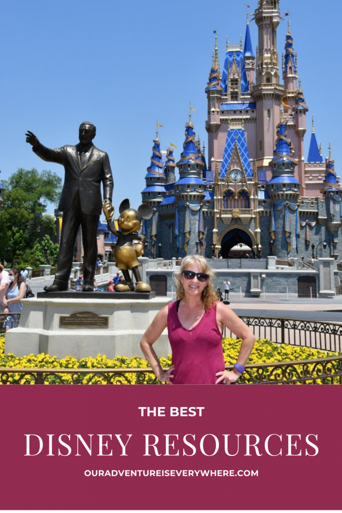 Are you planning a trip to Disney? Or just waiting for your next Disney trip? Either way, check out my favorite resources for learning insider tips, discovering what's new and just getting that Disney fix! #DisneyWorld #DisneyVaction #OurAdventureisEverywhere