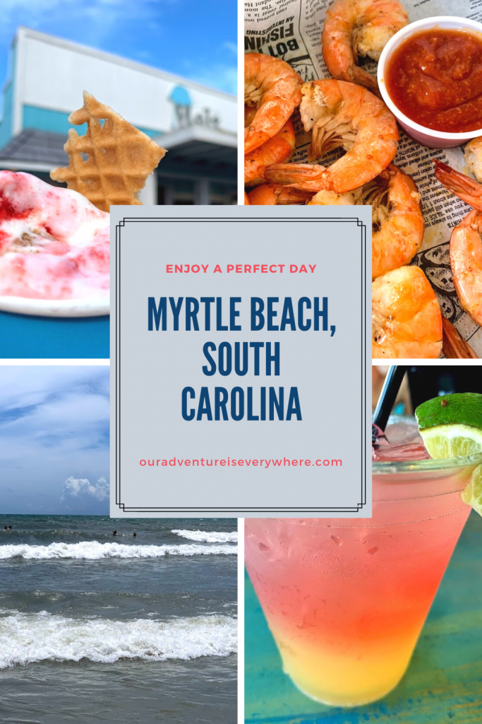 Myrtle Beach is the perfect place for a summer vacation! Ready for the BEST way to spend a perfect day in Myrtle Beach, SC? Enjoy the beach, great seafood and more during this day trip adventure! #daytrips #traveltips #southcarolina