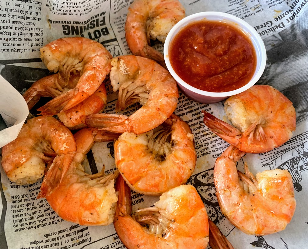Peel and eat shrimp at Myrtle Beach