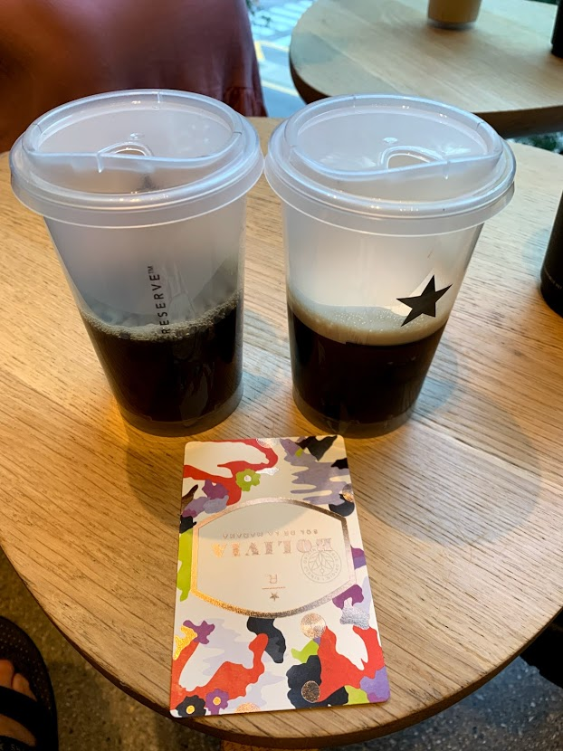 Iced coffee flight at Starbucks Reserve in Chicago