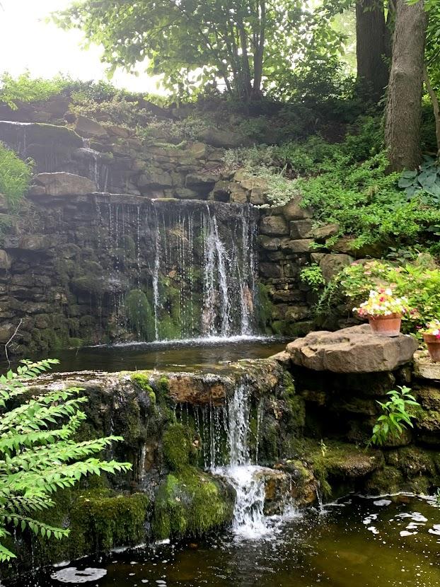Charley Creek Gardens waterfall