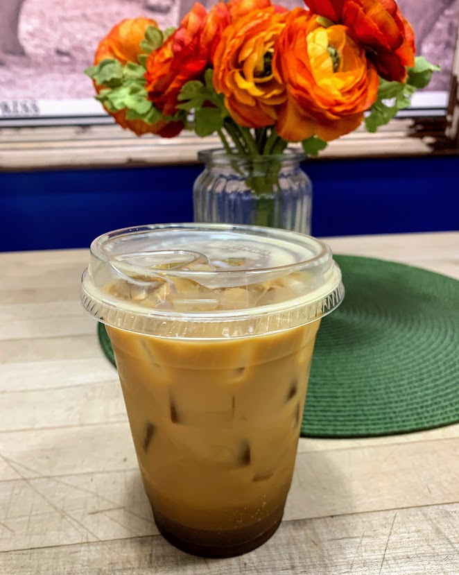 Iced coffee from Modoc's Market