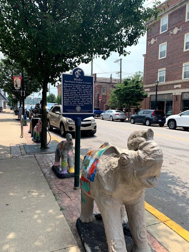 Elephants abound in Wabash, Indiana