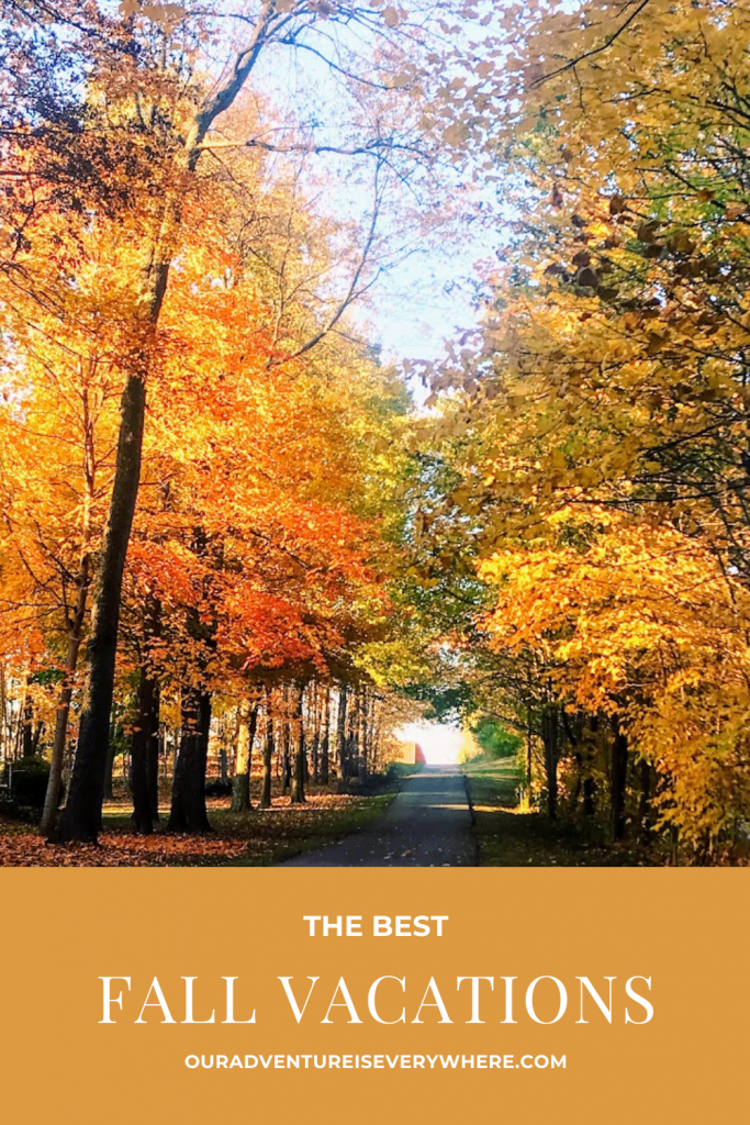Are you looking for the BEST fall vacation ideas? I've got a couple great ones in this post. Something for everyone, no matter how far you want to go or what you want to do. Check them out then plan your own fall getaway. #fallvacations #weekendgetaways #vacationideas
