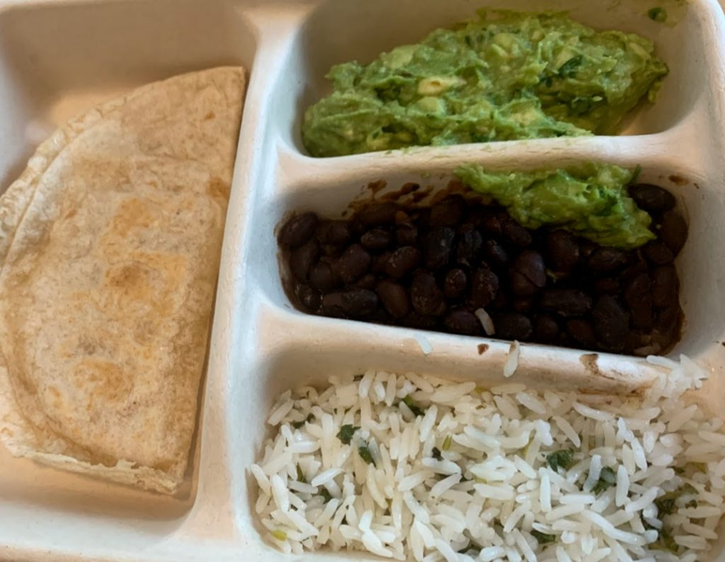 Kids meal from Chipotle